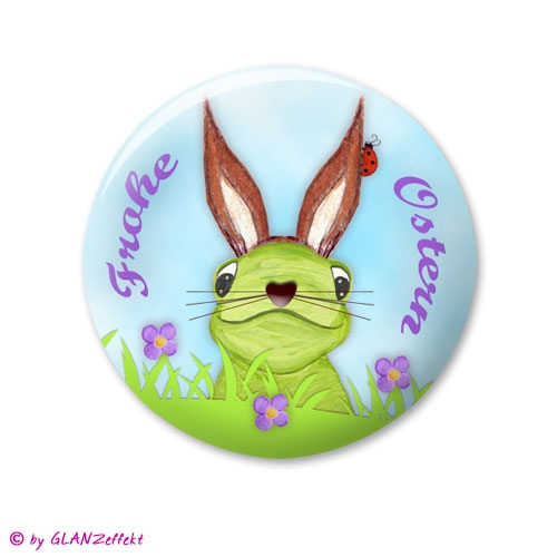 Button oder Magnet Frohe Ostern No.3