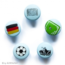 5 Möbelgriffe Fußball