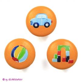 3 Möbelgriffe Spielzeug