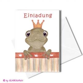 Klappkarte Froschkönig