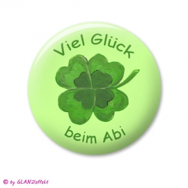 Abi Button Kleeblatt