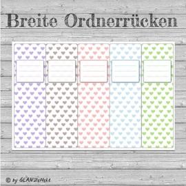 Breite Ordnerrücken Herzen Mix No.1