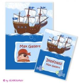U-Heft & Impfpass im Set Pirat No.3