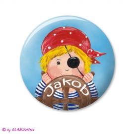 Button mit Namen Pirat No.3